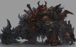 Картинка оружие, существо, воин, броня, fantasy art, Drock Nicotine