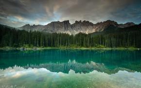 Картинка лес, горы, природа, озеро, отражение, Agnеs Perrodon