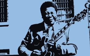 Картинка Гитара, Blues, Art, B.B.King