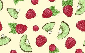 Картинка ягоды, фон, текстура, киви