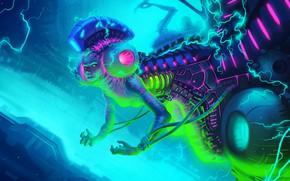 Картинка Робот, Стиль, Fantasy, Art, Техника, Style, Electronic, Fantasy Flight Games, Sci-Fi, Science Fiction, Ток, Cyberpunk, …
