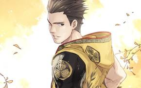 Картинка аниме, арт, парень, эпоха смут, Tokugawa Ieyasu, Sengoku.Basara