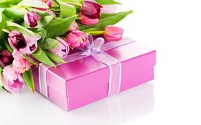 Картинка цветы, подарок, весна, 8 марта, тюльпнаы