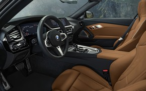Картинка интерьер, BMW, родстер, салон, BMW Z4, M40i, Z4, 2019, G29