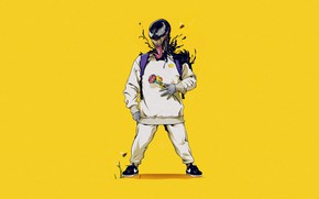 Картинка Минимализм, Язык, Стиль, Зубы, Marvel, Веном, Venom, Симбиот, Creatures, by ChrisBMurray, ChrisBMurray, by Chris Murray, …