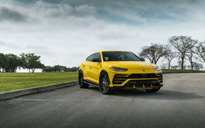 Картинка Lamborghini, Predator, Yellow, Evening, Urus, Demon, VAG