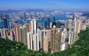 Картинка город, Гонконг, Китай