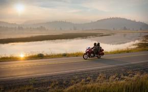 Картинка motorbike, honda gold wing, honda gl1800
