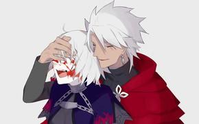 Картинка девушка, кровь, парень, крик, Fate / Grand Order, Судьба великая кампания