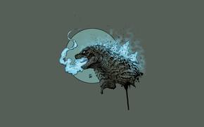 Картинка Рисунок, Монстр, Фон, Годзилла, Арт, Art, Godzilla, Kaiju, Creatures, By Leonardo Gonzalez, Leonardo Gonzalez, Kaiju …