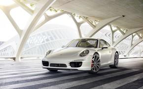 Картинка Авто, Белый, 911, Машина, Car, Art, Render, Porsche 911, Design, Суперкар, Supercar, Спорткар, Sportcar, Transport …