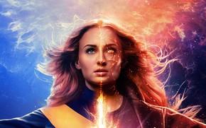 Картинка фантастика, комикс, MARVEL, Софи Тёрнер, Sophie Turner, Dark Phoenix, Люди Икс: Тёмный Феникс