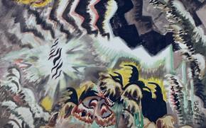 Картинка 1961, Charles Ephraim Burchfield, The Moth and the Thunderclap