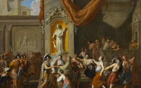 Картинка масло, картина, 1733, Свадьба Александра Великого и Роксаны с Бактрии, Жерар Хут, Gerard Hoet