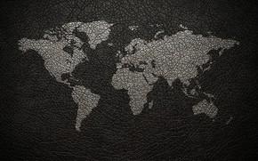 Картинка континент, земля, кожа, карта мира