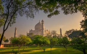 Картинка парк, Индия, Тадж-Махал, Агра