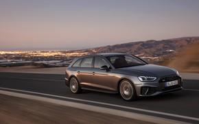 Картинка движение, Audi, универсал, 2019, A4 Avant