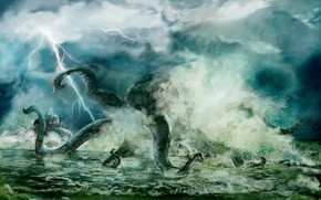 Картинка monster, creature, giant octopus