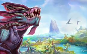 Картинка пейзаж, дракон, Runescape