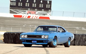 Картинка Race, Blue, Coupe, Muscle car, Vehicle, Dodge Charger 500
