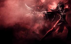 Картинка девушка, оружие, League of Legends, Лига Легенд