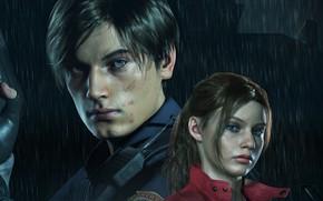 Картинка Resident Evil, Capcom, Leon, Claire, Resident Evil 2, Resident Evil 2 (2019)