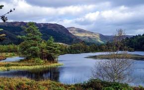 Картинка пейзаж, горы, природа, озеро, красота