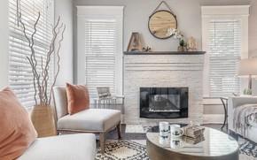 Картинка интерьер, камин, гостиная, small space living room