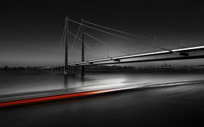 Картинка мост, выдержка, чёрное фото