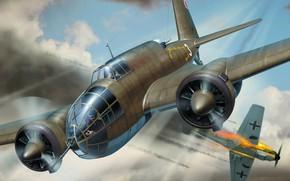 Картинка Лось, ВВС Польши, двухмоторный польский самолёт-бомбардировщик, Łoś, PZL.37A