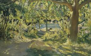 Картинка пейзаж, картина, 1904, The Launder Place, Robert Delaunay, Робер Делоне