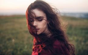 Картинка девушка, лицо, волосы, портрет, Roma Roma