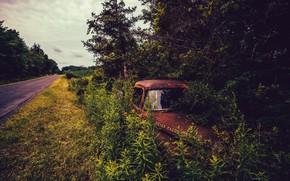 Картинка дорога, машина, лом