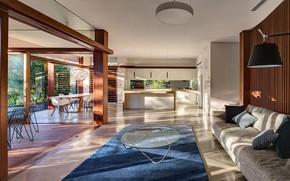 Картинка интерьер, кухня, гостиная, столовая, sunlight room