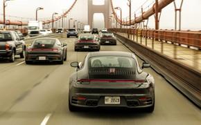 Картинка мост, купе, 911, Porsche, прототип, тесты, 992