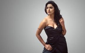 Картинка girl, eyes, smile, beautiful, figure, lips, hair, brunette, indian, actress, bollywood, makeup, Akshatha sreedhar