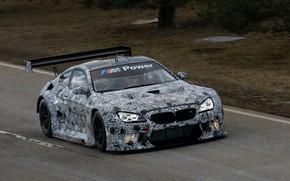 Картинка купе, трасса, BMW, камуфляж, 2019, M6 GT3