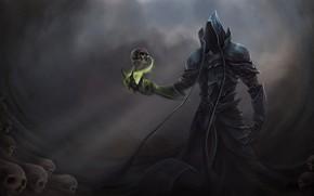 Картинка магия, череп, демон, Diablo 3 Reaper of Souls
