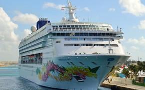 Картинка лайнер, багамы, круизный