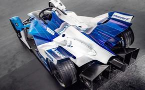 Картинка вид сзади, 2018, Formula E, Electric Race Car, BMW iFE.18