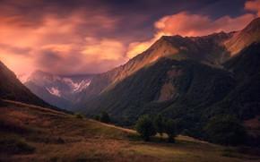 Картинка небо, горы, склон