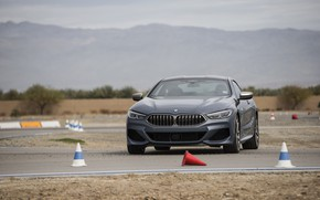 Картинка купе, BMW, на треке, 2018, серо-синий, 8-Series, 2019, M850i xDrive, 8er, G15
