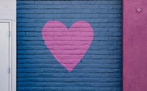 Картинка стена, сердце, краска