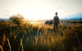 Картинка Cyberpunk 2077, Закат Солнца, Панам Палмер