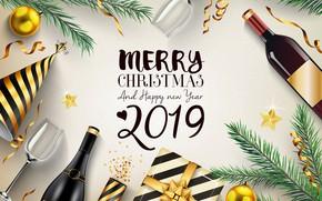Картинка подарок, Новый год, декор, композиция, 2019