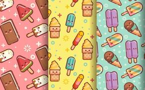 Картинка фон, текстура, мороженое, ice cream