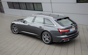 Картинка Audi, окна, 2018, универсал, тёмно-серый, A6 Avant