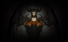 Картинка Игра, Череп, Богиня, Fantasy, Рога, Blizzard, Art, Женщина, Суккуб, Фантастика, Diablo, Game, Диабло, Blizzard Entertainment, …