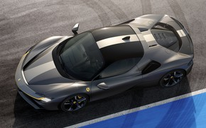 Картинка Ferrari, спорткар, вид сверху, Stradale, SF90