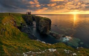 Картинка море, скалы, Солнце, sea, Sun, rocks, Tomasz Rojek
